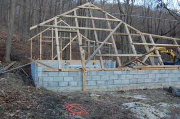 Building a woodshop- one wall at a time