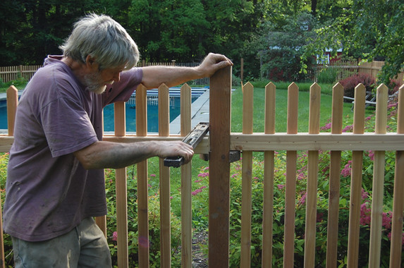 New Cedar Pool Fence - Garrison NY