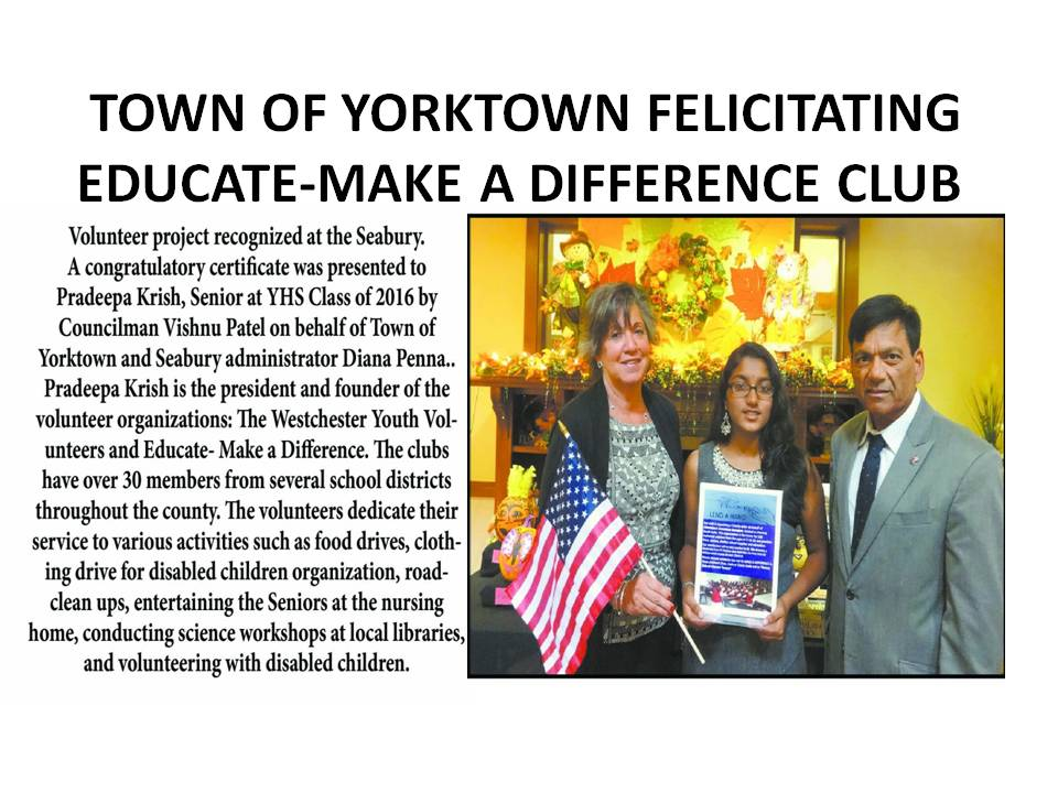 TOWN OF YORKTOWN EDUCATE