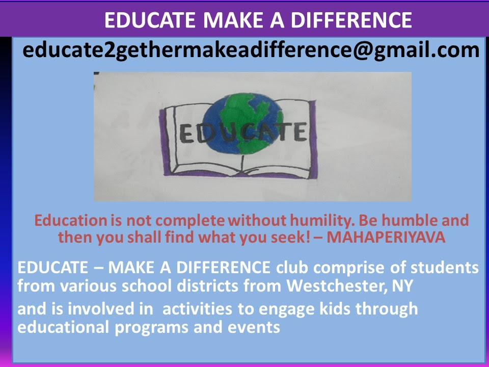 Educate make a difference  FP 2017