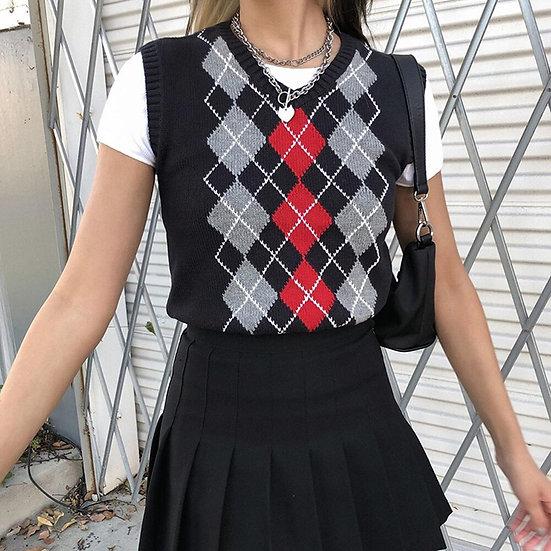 Geometric Print Vest