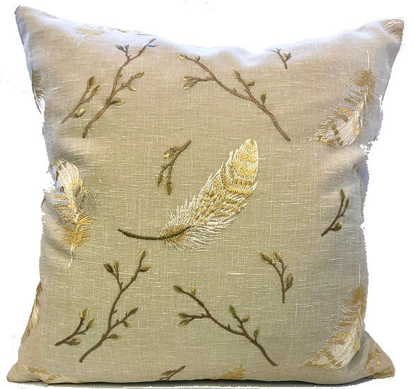 Crestmont Decorative Embroidered Pillow Covers/Cases 20x20 Set of 2 (Sammi)