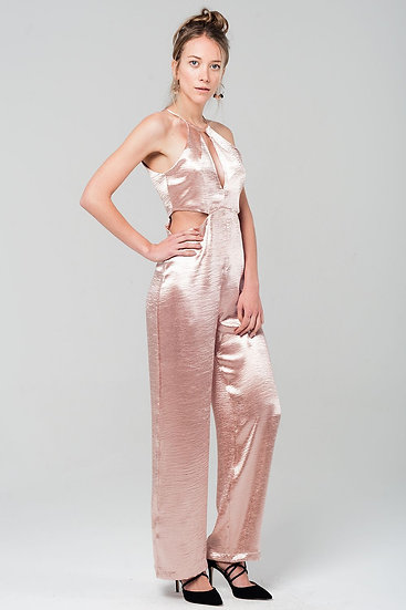 Metallic Pink Jumpsuit