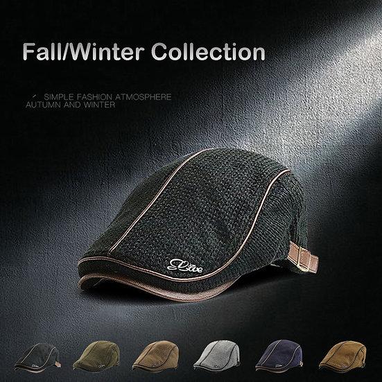 Eillysevens Padded Warm Baker Boy Hat
