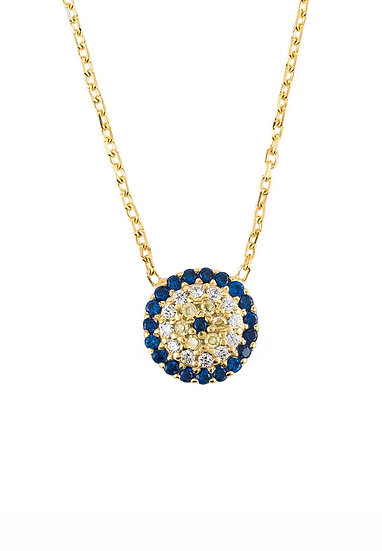 Evil Eye Necklace Gold