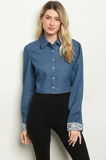 Blue Denim Chambray Shirt