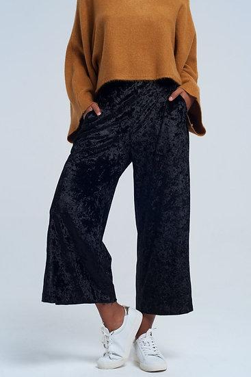 Wide Long Leg Velvet Pants