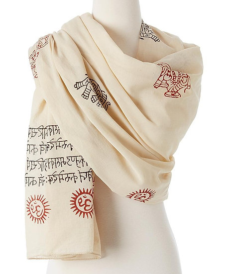 Ganesh Mantra Prayer Shawl