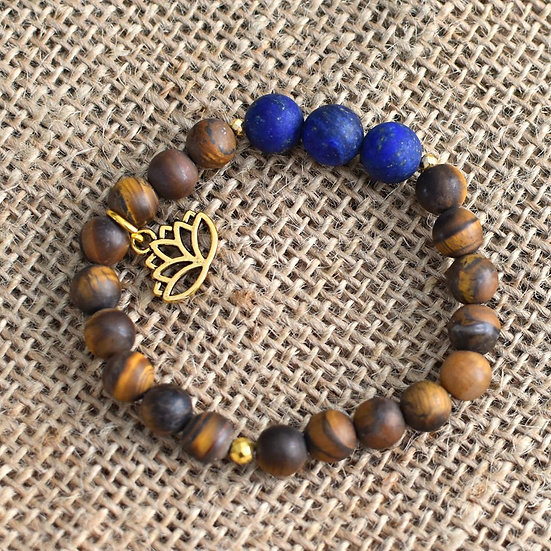 DIVINE VISION Lapis & Tiger Eye Bracelet