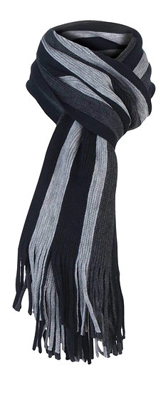 Mens Knitted Striped Winter Scarf