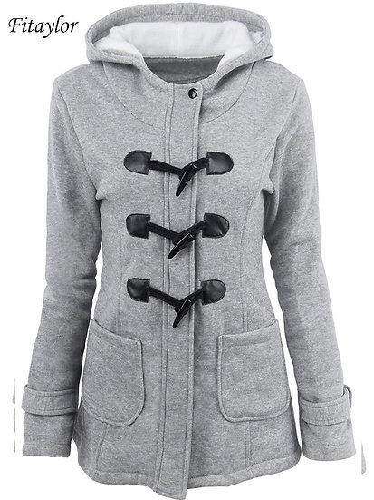 Hooded Cotton Slim Fit Single Breasted Zipper Jacket