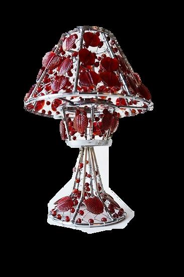 Handmade Colored Glass Holiday Tea Light Holder
