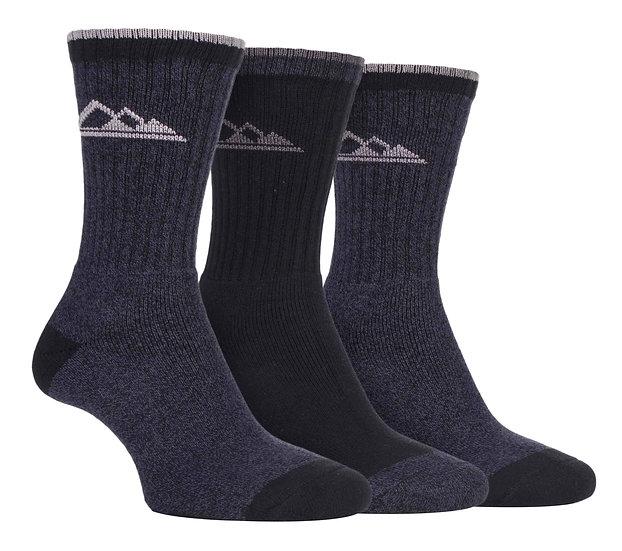 3 Pairs Ladies Lightweight Cotton Hiking Socks