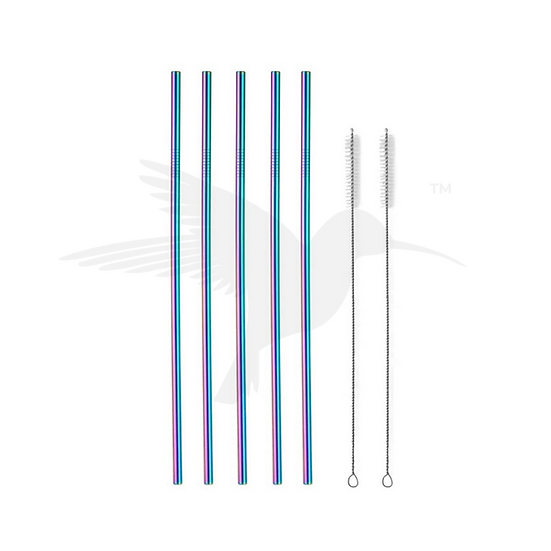 Hydrate Straws Rainbow Set of 5