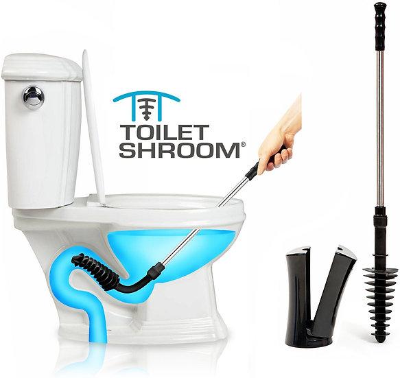ToiletShroom (Black) Toilet Plunger That Unclogs Toilets in Seconds