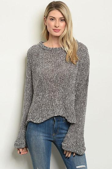Chenille Gray Sweater