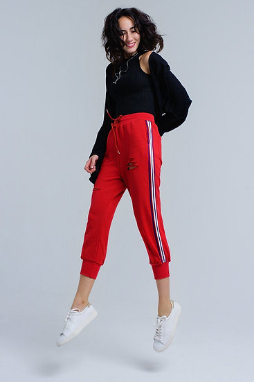 Red Pants With Rips