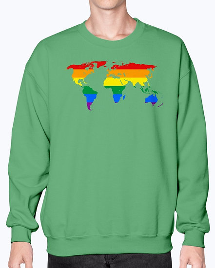 Rainbow World-  LGBTQ- Unisex Sweatshirt - Big Range of Colours