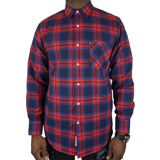 City Boys Flannel in Red and Blue