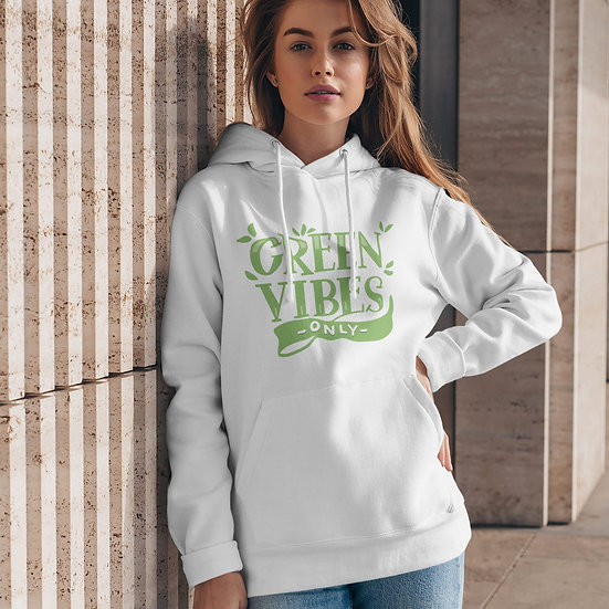Green Vibes Only Organic & Recycled Eco-Friendly Hoodie