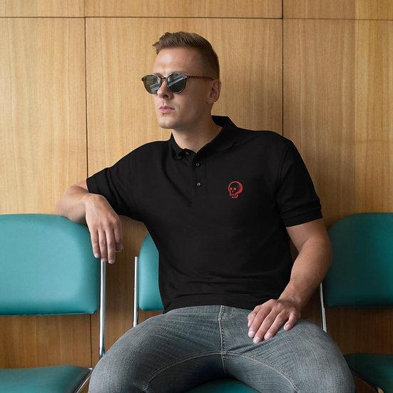 Men's Premium Polo (Black/White)