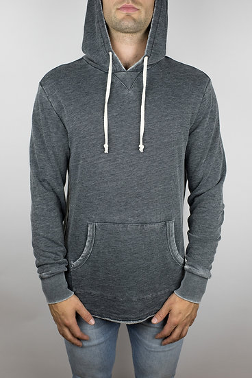 The Embers Terry Hoodie in Washed Black