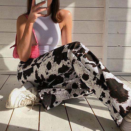 Zebery Animal Print Trousers