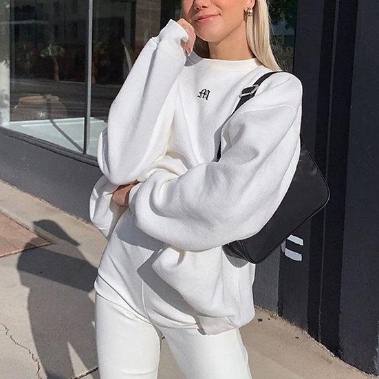 Zebery Oversized Crewneck Sweatshirt