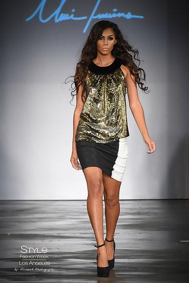 Women's Sleeveless Gold Top