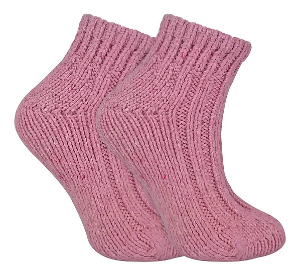 Ladies Chunky Wool Blend Ankle Socks