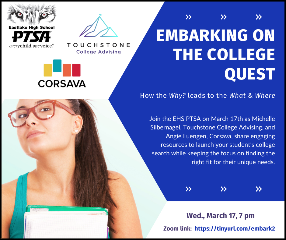 embarking on the college quest webinar on March 17