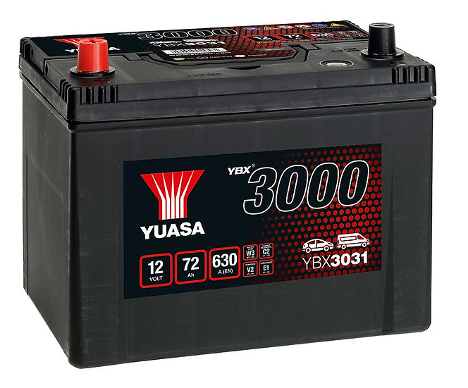 Аккумулятор YUASA 70Ah 12V 570A