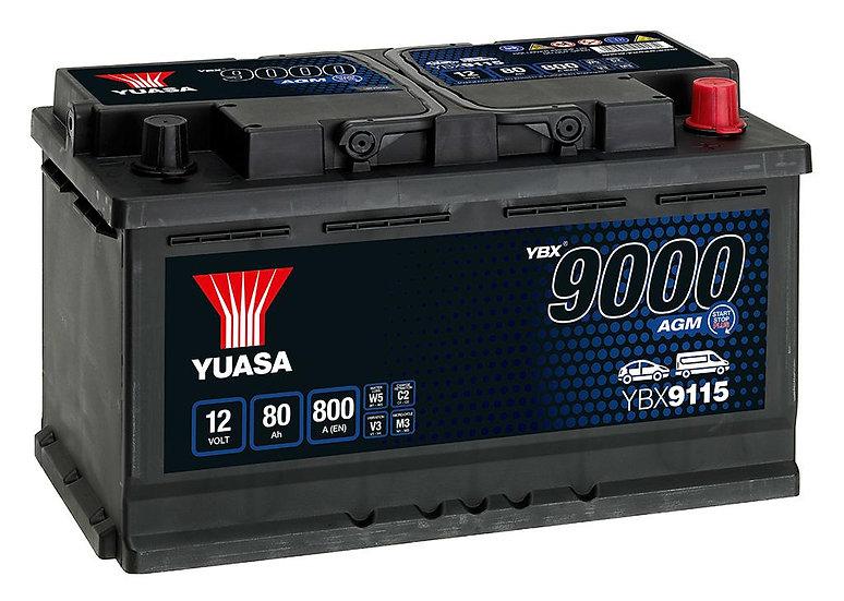 Аккумулятор YUASA 80Ah 12V 800A SHD AGM