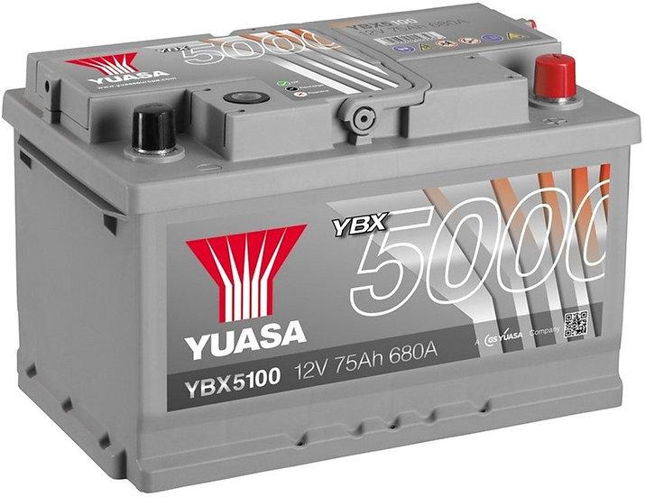 Аккумулятор YUASA 75Ah 12V 680A