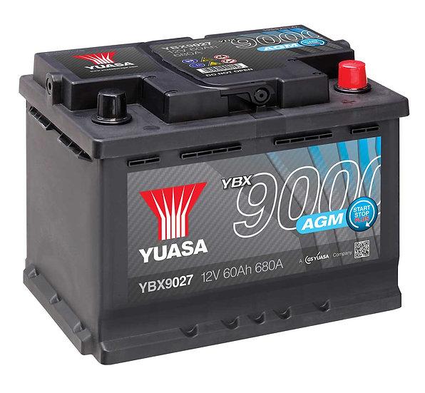 Аккумулятор YUASA 60Ah 12v SHD 680A AGM