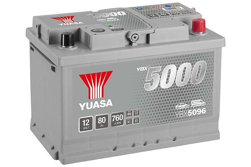 Аккумулятор YUASA 80Ah 12V 760A