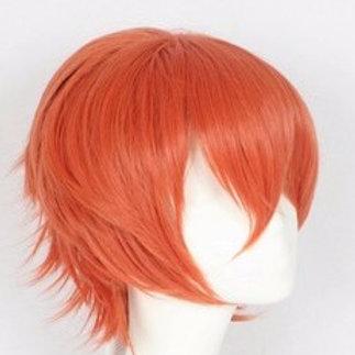 Short Wig - Orange (Spiky )
