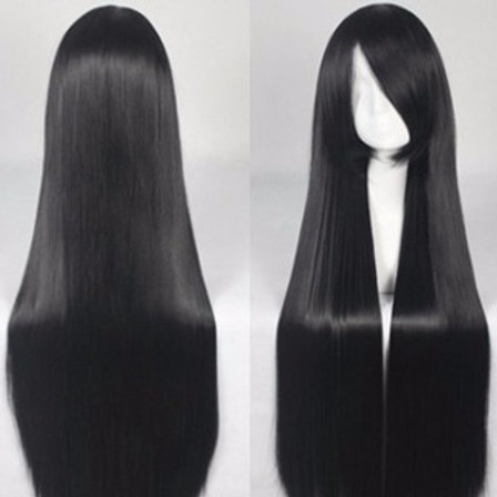 Long Wig - Black (80cm)
