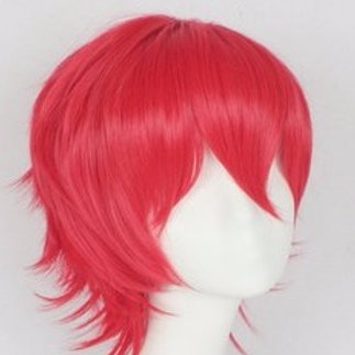 Short Wig - Red (Spiky )
