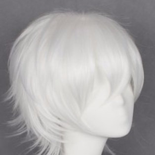 Short Wig - White (Spiky )