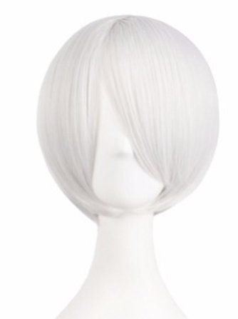 Short Wig -White (Smooth)