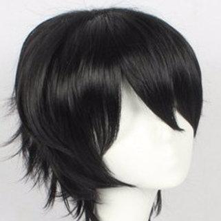 Short Wig - Black (Spiky )
