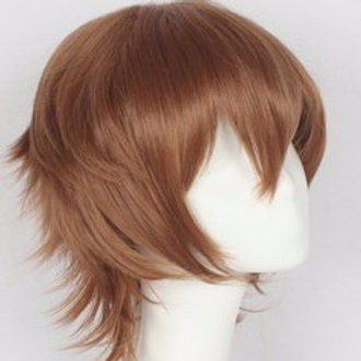 Short Wig - Brown (Spiky )