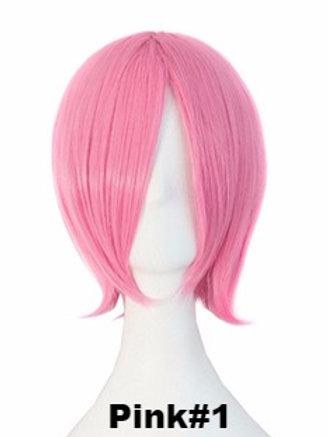 Short Wig -Pink (Smooth)