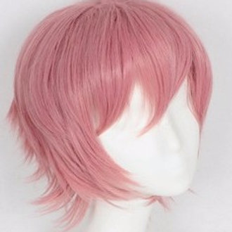 Short Wig - Pink (Spiky )