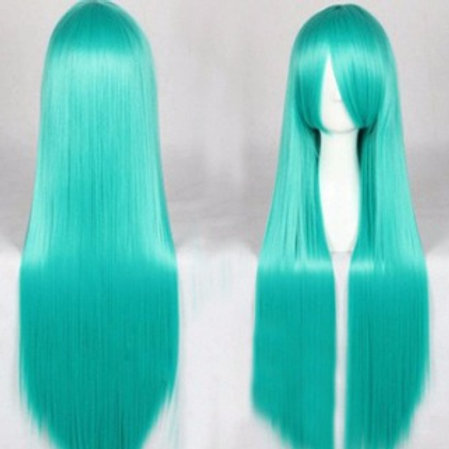 Long Wig - Green (80cm)