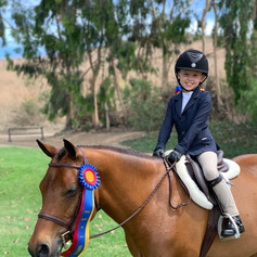 Siena and Popcorn Champion in the Short Stirrup Division at the OCHSA Championship Show 2019