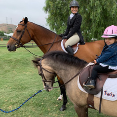 Pippa and Twix at the Oaks Horse Show
