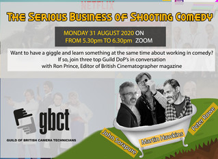 THE SERIOUS BUSINESS OF SHOOTING COMEDY - JOHN SORAPURE, MARTIN HAWKINS AND PETER ROWE TALK TO RON P