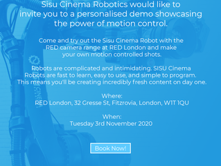 RED - SISU CINEMA ROBOTICS AT RED LONDON - FREE DEMO -TUESDAY 2 NOVEMBER
